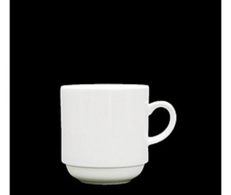 Fortessa Cassia White Porcelain Stackable Coffee Mug