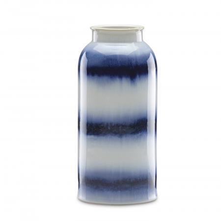 Lenox Painted Indigo Drip Glaze Tall Vase