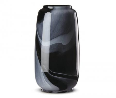 Lenox Brinton Large Black Glass Vase