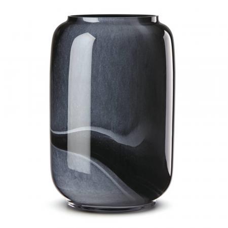 Lenox Brinton Black Glass Vase