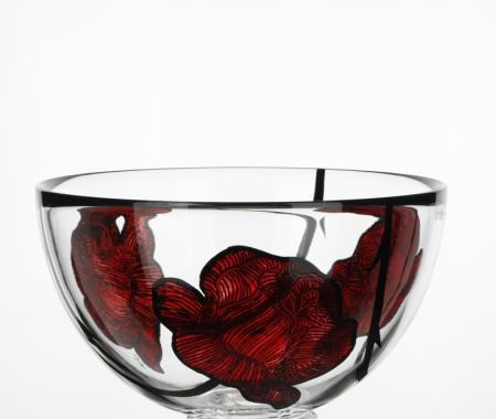 Kosta Boda Tattoo Crystal Bowl