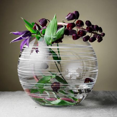Orrefors Graphic Round Vase
