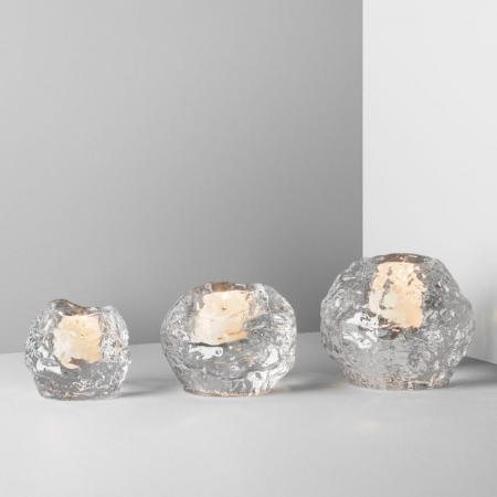 Kosta Boda Snowball Votives 3 Pack