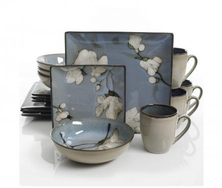 Gibson Bloomington 16 Piece Dinnerware Set