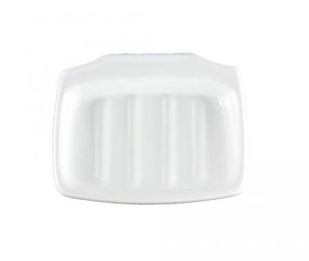 Lenape Carrousel White Ceramic Clip-On Soap Dish
