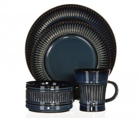 Dansk Flamestone Denim Dinnerware Set