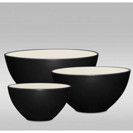 Noritake Colorwave Graphite 3-Piece Bowl Set