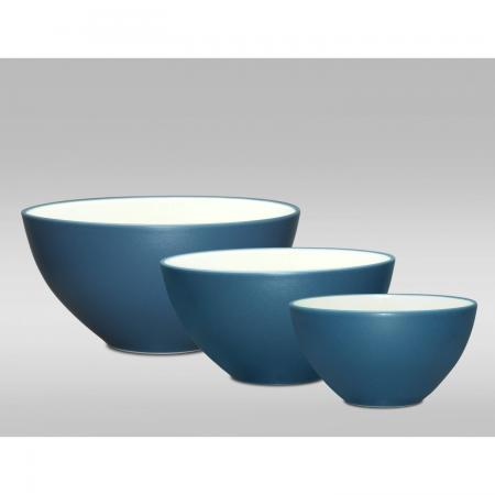 Noritake Colorwave Blue Three-Piece Bowl Set