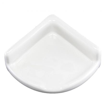 Lenape ProSeries Small White Ceramic Shower Shelf