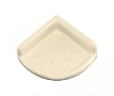 Lenape Small Bone Ceramic Shower Shelf