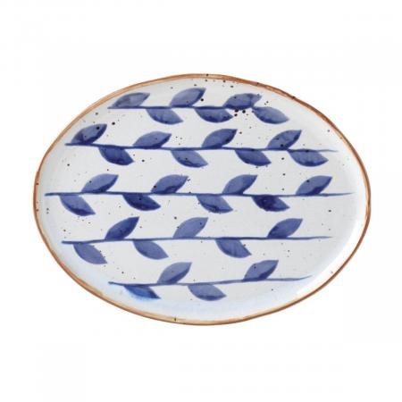 Dansk Vandvid Vines Oval Stoneware Dinner Plate