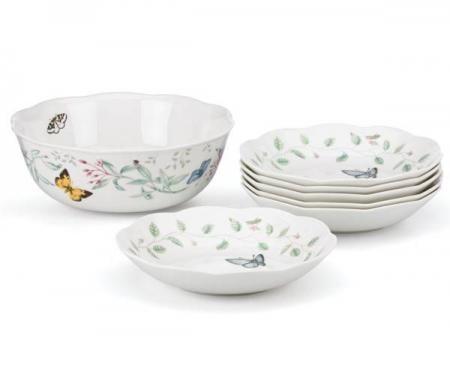 Lenox Dinnerware Butterfly Meadow Pasta Bowl Set Plum