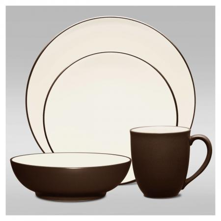 Noritake Colorwave Chocolate Coupe 4-Piece Place Setting