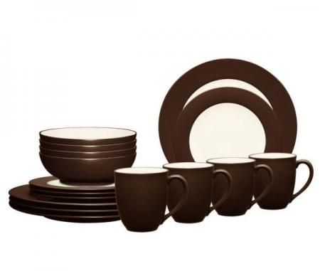 Noritake-Colorwave-Chocolate-Rim-Dinnerware-Set