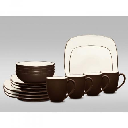 Noritake Colorwave Square 16-Piece Dinnerware Set