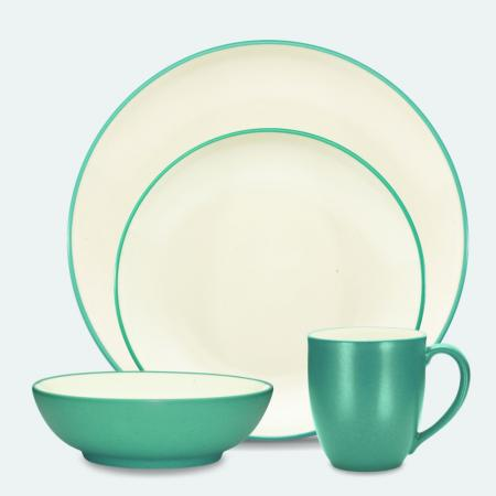 Noritake Turquoise Coupe 4-Piece Place Setting