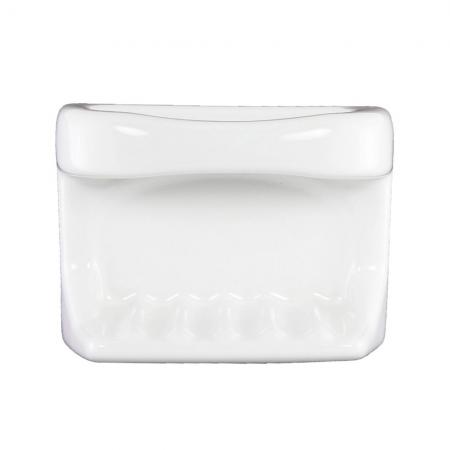Lenape ProSeries White Ceramic Shower Soap Holder