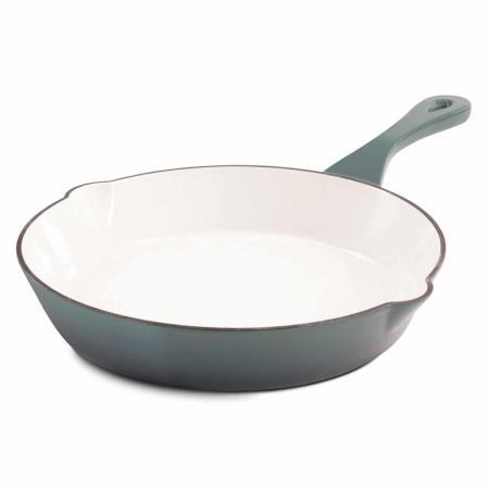 """Crock Pot 8"""" Gray Enameled Cast Iron Skillet"""