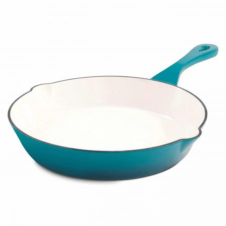 Crock Pot Artisan 8in Enameled Cast Iron Skillet, Teal
