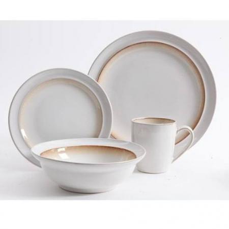 Gibson Lawson Brown 16-Piece Dinnerware Set