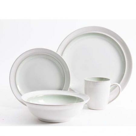 Gibson Lawson Green 16-Piece Dinnerware Set