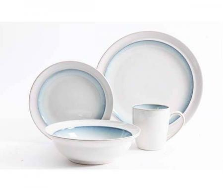 Gibson Lawson Teal 16 Piece Dinnerware Set Plum Street
