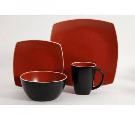 Gibson Soho Lounge Matte Brick Dinnerware Set