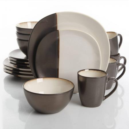 Gibson Volterra Cream 16-Piece Dinnerware Set