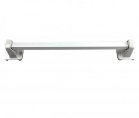 Lenape Carrousel 24 Inch White Ceramic Towel Bar Plum