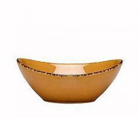 D&V Fortessa Spice Saffron Oval Serving Bowl