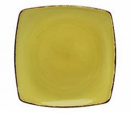 D&V Fortessa Spice Cilantro Square Salad Plate