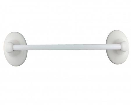 Lenape Classic White 18 Inch Ceramic Towel Bar Plum