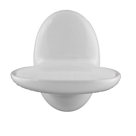 Lenape Classic White Ceramic Soap Dish
