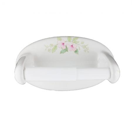 Lenape Classic Blossoms Ceramic Toilet Paper Holder