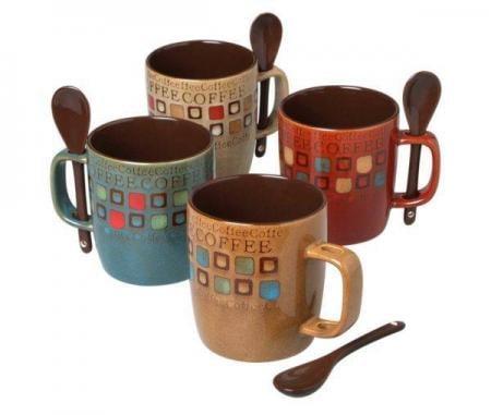 Mr. Coffee Cafe Americano Coffee Mugs & Spoon Set