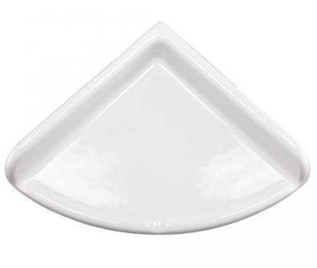 Lenape Large White Ceramic Shower Shelf Plum Street Pottery