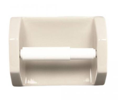 Bone Ceramic Toilet Paper Holder Plum Street Pottery