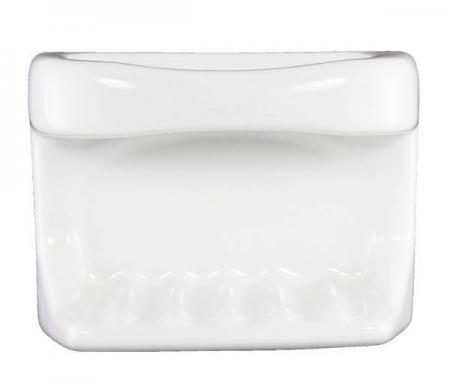 White Ceramic Soap Dish For Tiled Showers Plum Street
