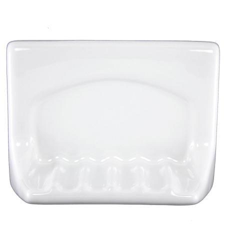 Lenape ProSeries Wall-Mount White Ceramic Soap Holder