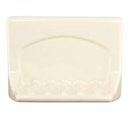 Lenape Proseries Bone Ceramic Tub Soap Dish Plum Street