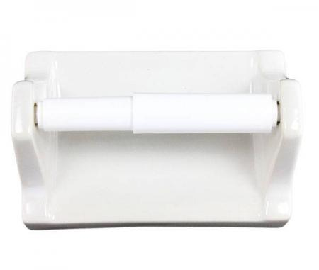 White Ceramic Toilet Paper Holder Plum Street Pottery