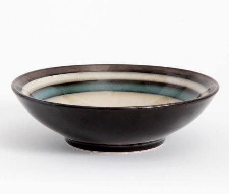 Gibson Lewisville Teal Serving Bowl