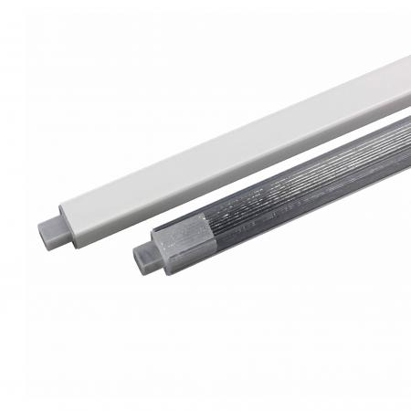 """Lenape Clear Plastic 24"""" Replacement Towel Bar with Spring Ends"""