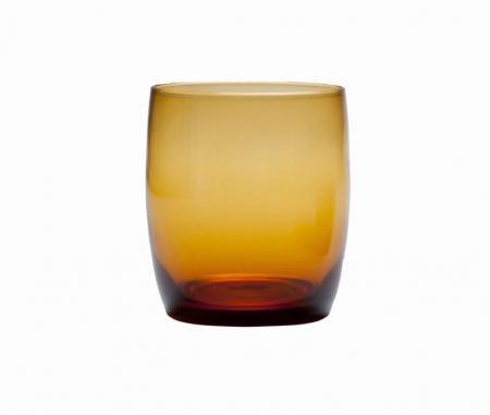 D&V Glass Gala Amber Short Beverage Glass