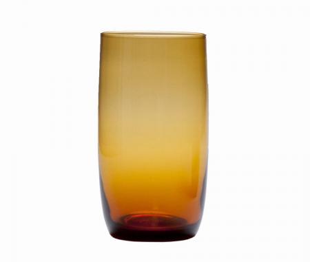D&V Glass Gala Amber Iced Beverage Glass